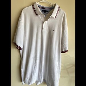 Men's white Tommy Hilfiger polo shirt. 2XL. EUC.